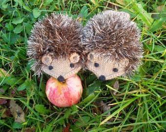 Hand Knit Light brown Hedgehog Mittens Gloves Children Warm Made to Order
