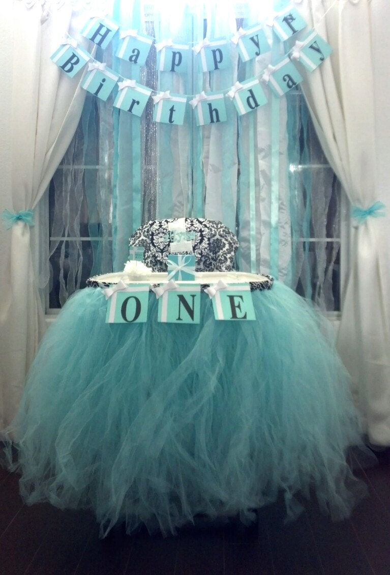 custom tulle high chair skirt you choose the color