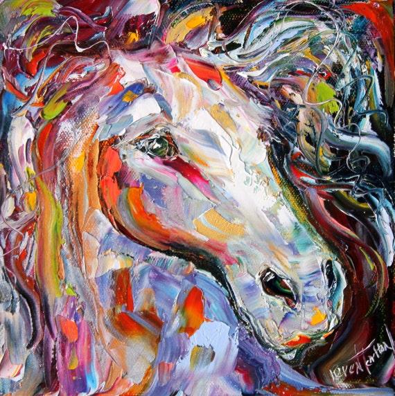 Reserved For Dana Original Oil Painting Horse By Karensfineart