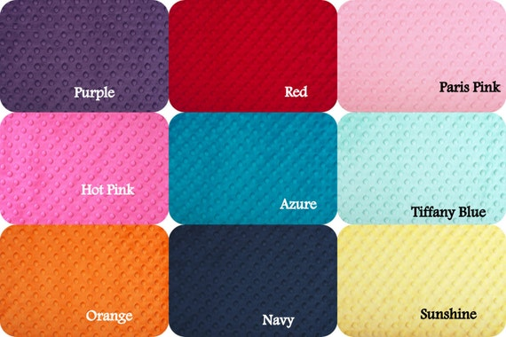 Minky Dot Nap Mat Choose Your Colors 2 Inches By