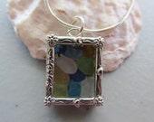 Beach Sea Glass Locket Pendant, Sea Glass Locket, Necklace Sea Glass Jewelry, Beach Glass Jewelry