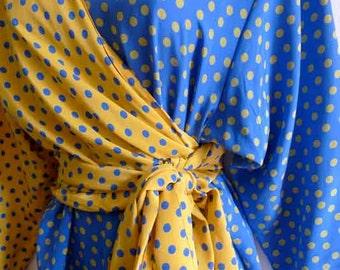 SALE 80s LANVIN dual pattern and colors silk dress