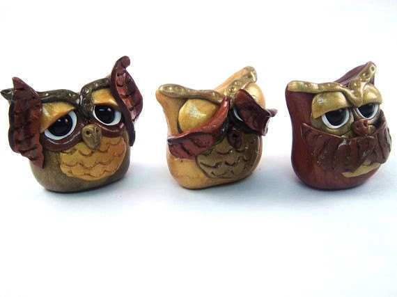 Hear no evil see no evil speak no evil by creationsbycurry on etsy - Hear no evil owls ceramic ...