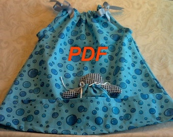 Pillowcase  Dress PDF with Doll