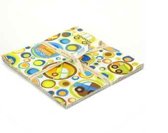 "On the Go by Riley Blake Charm Pack of 10"" X 10"" stackers - total of 23 pieces"