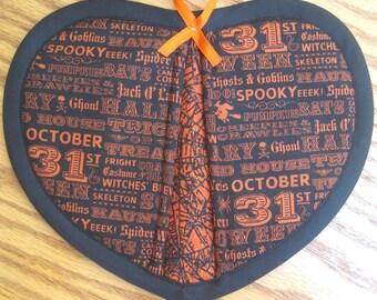 October 31 Halloween Potholders - Set of 2