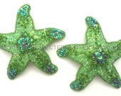Starfish Pasties, Iridescent Two tone - Lime and Lilac  - Ready to Ship