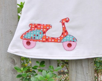 Baby Girls Jumper Retro Scooter Vespa Lambretta Dress - reversible dress - baby jumper Dress Baby dress  -  0 to 4 years