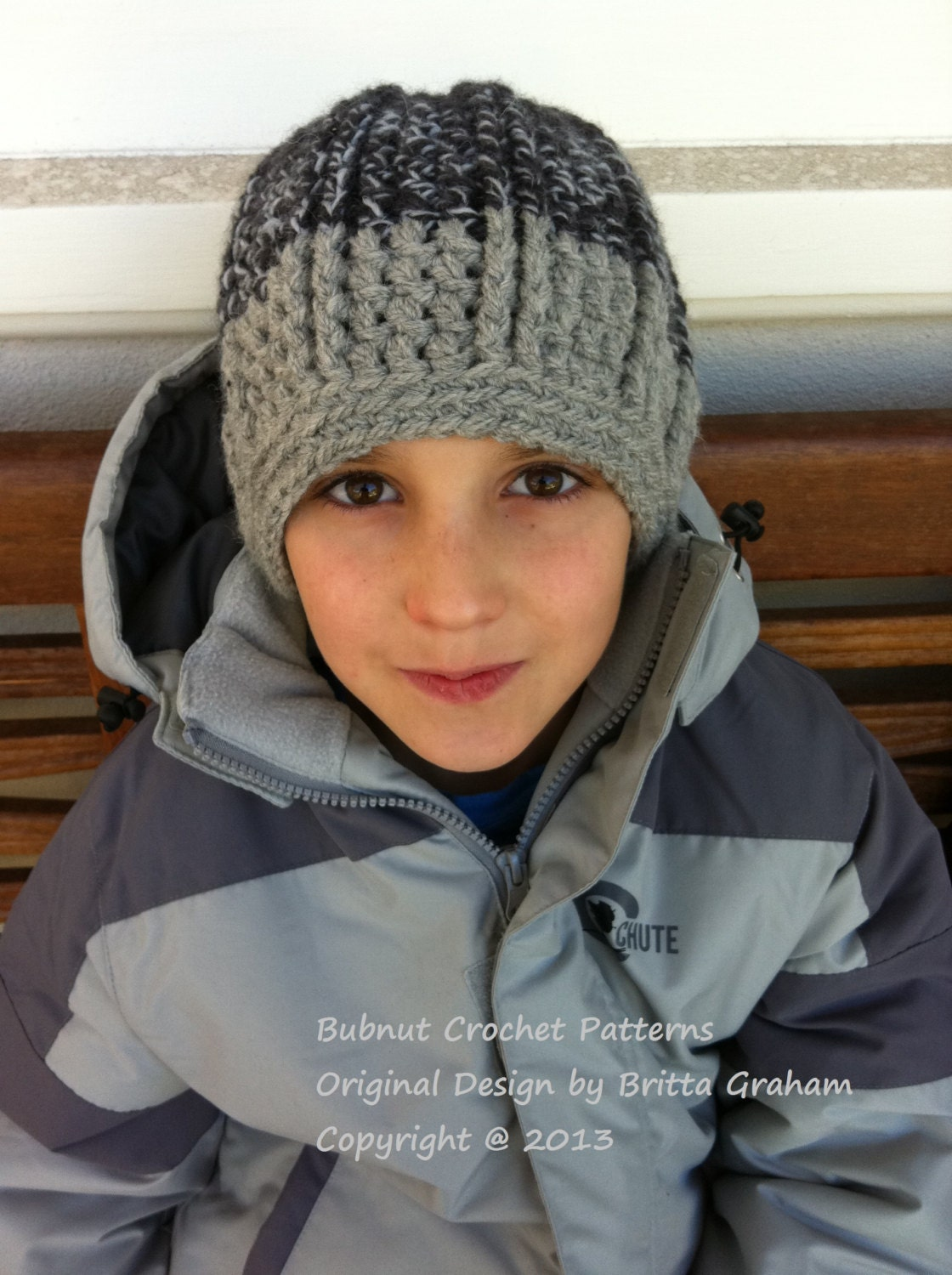 Boys Hat Knitting Pattern : Boys crochet hat pattern Funky Chunky Beanie Crochet Pattern
