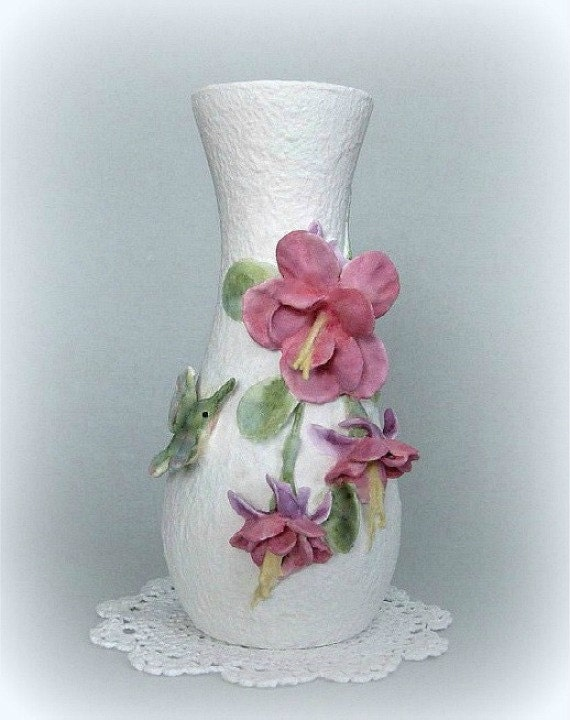 Flower vase decor art vase white vase bud vase decorative vase - Great decorative flower vase designs ...