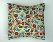 Doves and Flowers Pillow Cover Pillow Case 18 x 18/ Mexican Inspired Palomas Cushion Cover