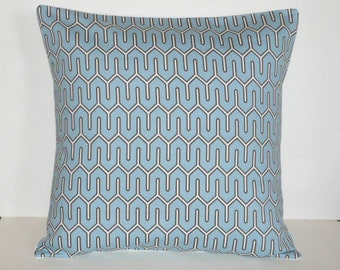 Throw Pillow Decorative Pillow Accent Pillow Cushion Covers Blue Brown White Geometric 16 x 16