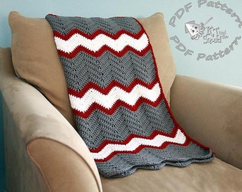 Instant download, Crochet afghan pattern, chevron blanket pattern, crochet throw patten, easy baby blanket pattern, permission to sell