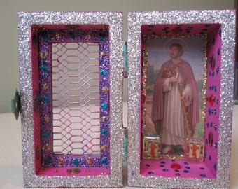 St. James the Apostle mini nicho, Catholic altar, Voodoo shrine, folk art