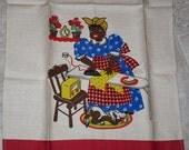 Vintage Black Americana Towel Mammy Ironing Unused