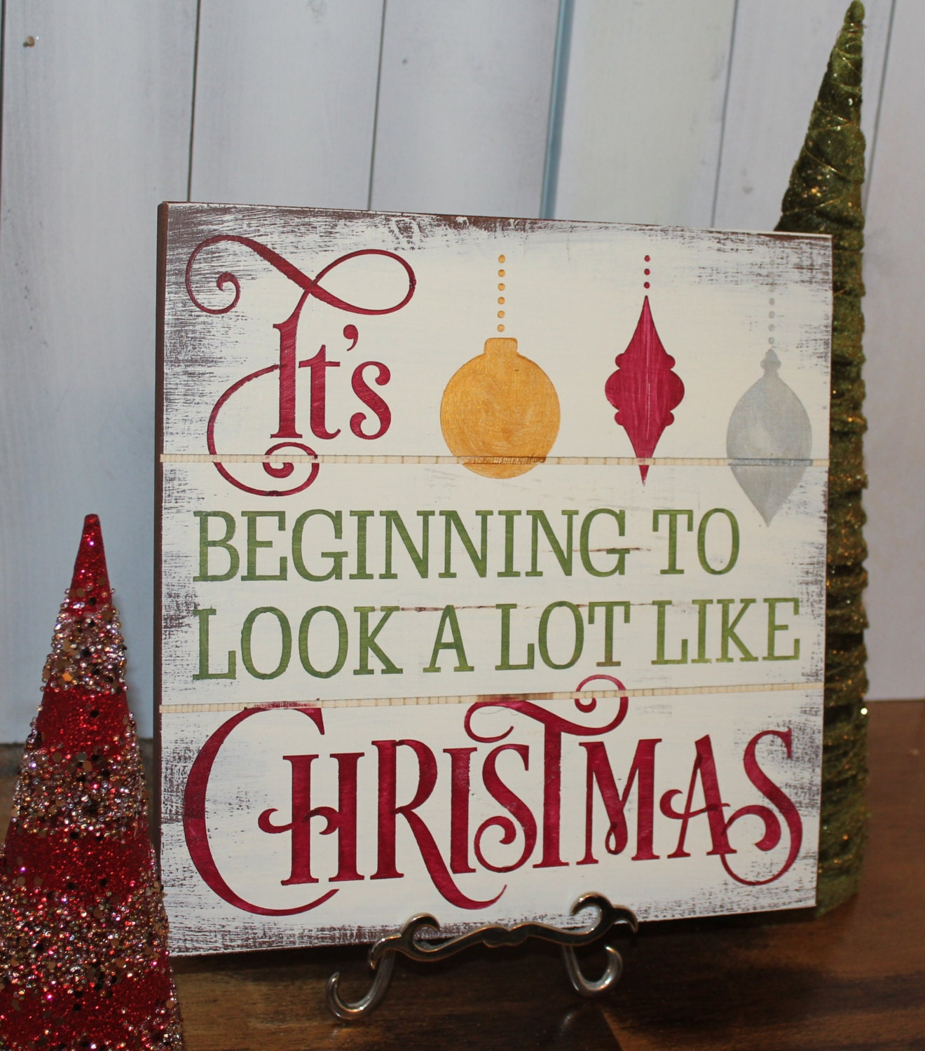 Christmas Sign/CHRISTMAS Sign/Subway Style/It's Beginning