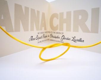 Help Us Tie The Knot LITERALLY - Wedding Invitation SAMPLE