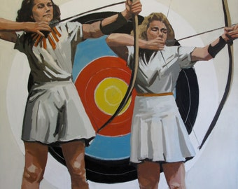 """Two Archers: 16x16"""" Archival Print - Signed"""