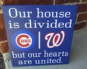 Personalized MLB Sign Divided House