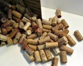 DESTASH - 50 USED Wine Corks - All Natural, No Synthetics - Wine Cork Arts and Crafts Supply