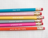 days of summer – engraved pencil set by one fine dae