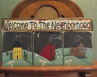 House Warming Gift - Customized Welcome To The Neighborhood Sign