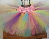 Lime Green, Turquoise, Hot pink, purple, yellow and pink tutu, girls tutu, birthday tutu,flower girl tutu, rainbow tutu, colorful tutu,tutu