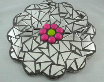 Glass art - Mosaic art - Mosaic home decor - Margo Valens Glass Art - Mosaic art home decor - Mosaic gift -Mosaic lover gift -flower art