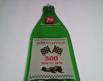 Indianapolis 500 Souvenir Bottle from May 27, 1979  Melted
