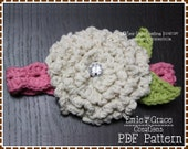 Flower Headband Crochet Pattern - MUM - 603