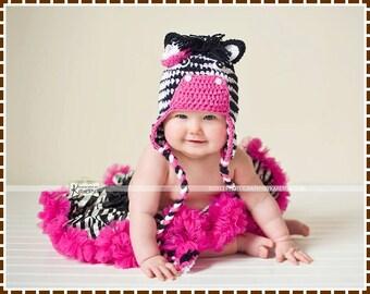 Crochet Zebra Hat Pattern, Mohawk Mane Ear Flap, ZACH and ZARIA ZEBRA - pdf 137