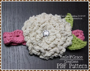 Flower Headband Crochet Pattern - MUM - 603