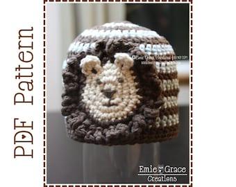 Lion Hat Crochet Pattern, 8 Sizes from Newborn to Adult, LEO LION - pdf 109