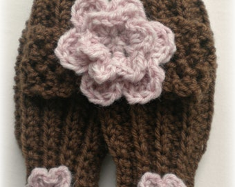 Baby Legwarmers and Headband Set with Flowers 0-3 Months You Pick Color