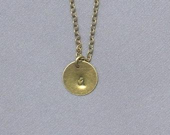 Antique Bronze Initial G Necklace