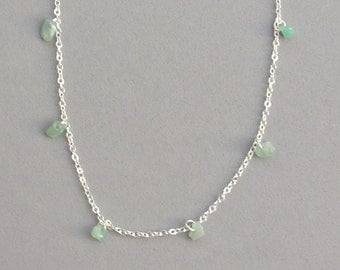 Green Stone Chip Necklace