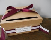 Rustic Wedding Card Box. Graduation Card Box, You customize colors