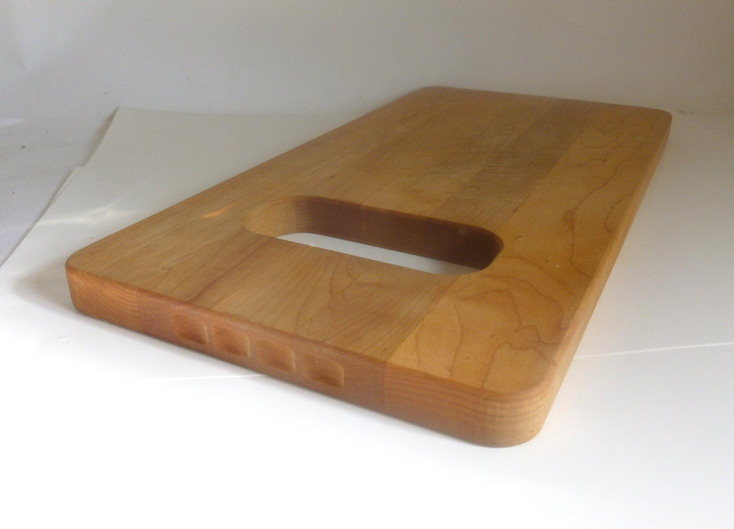 Large vintage vermont pine wood butcher block cutting board