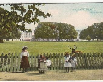 Young Girls Hertenkamp Gravenhage Hague Netherlands postcard