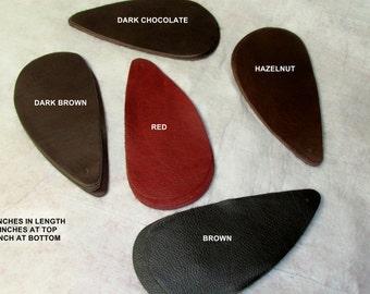 BR00 Package of 25 Tear Drop Leather Cowhide Remnants