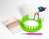 DIY: Knit Bangle - Tutorial / Pattern & Knitting Loom -  fun and easy - no knitting skills required - DIY kit with knitting loom and pattern