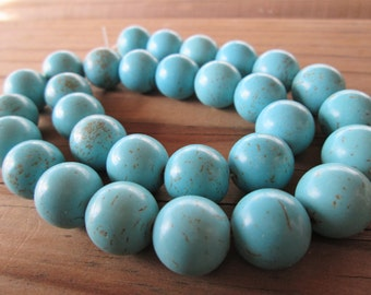 Turquoise Magnesite Round Beads 14mm Full Strand(Item Number 9427kx)