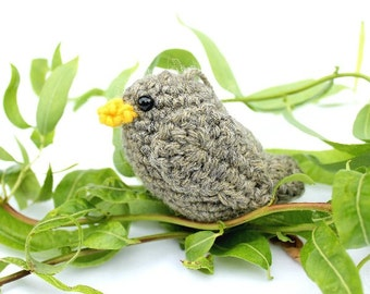 Sparrow Amigurumi Bird