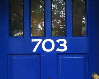 House Number Front Door 11x4 Vinyl Wall Lettering Words Quotes Decals Art Custom