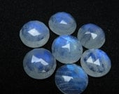 AAAA 15 mm Round Rose cut Cabochon - Gorgeous Rainbow Moonstone - Super Sparkle 7 pcs