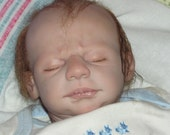Reborn doll,baby boy, OOAK Doll, Micro hair, Sleeping baby, Artist doll, reborn preemie,reborn baby