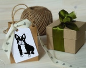 French Bull Dog Olive Wood Stamp