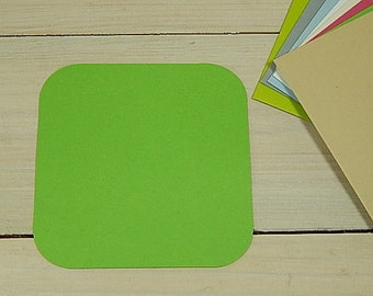 """10 x Quality Small Square Shaped Flat Cards in 30% Recycled Vibrant Cardstock 12x 12cm / 5 x 5"""""""