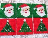 Needlepoint Christmas Coasters