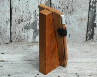 Chalkboard Tablet Stand, Kitchen Chalkboard, Chalkboard Sign, Rustic Chalkboard, Reclaimed Wood, Office Desk Accessories, Peg and Awl
